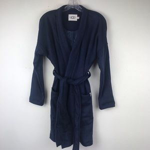 NEW UGG Women's Blanche 2 Robe Navy Blue Sz Small
